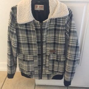 Volcom scout plaid jacket size small